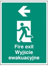 Fire Exit Arrow - Left (English/polish)