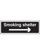 Smoking Shelter Right Arrow (white/black)