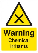 Warning Chemical Irritants