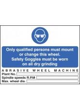 Abrasive Wheel Machine