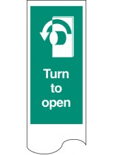 Door Plate - Turn to Open Left