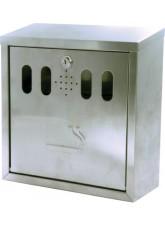 Wall Mounted Stainless Steel Cigarette Bin