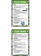 First Aid Workplace - Pocket Guide - 80 x 120mm