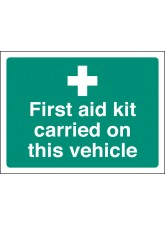 First Aid Kit Carried on this Vehicle - Window Sticker
