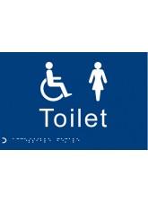 Braille - Toilet Ladies/Disabled