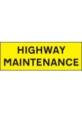 Highway Maintenance - Reflective Self Adhesive Vinyl - 800 x 275mm