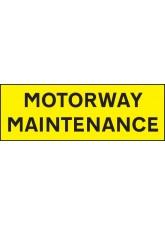 Motorway Maintenance - Reflective Self Adhesive Vinyl - 800 x 275mm
