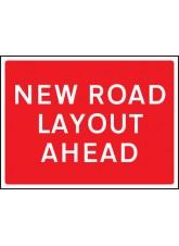 New Road Layout Ahead - Class RA1 - 1050 x 750mm
