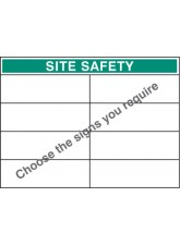 Bespoke Site Safety Board - 900 x 1200mm