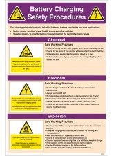 Battery Charging Safety Checklist Poster
