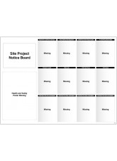 Site Notice Board with Doc Wallets (Site Info) 5mm PVC - 1430 x 1075mm
