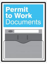 Permit to Work Document Holder Sign
