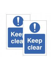 Keep Clear Double Sided Window Sticker