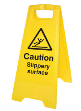 Caution Slippery Surface - Self Standing Folding Sign