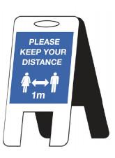 Keep your Distance Lightweight A-Frame - 1m / 2m / Generic Distance Options