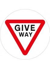 Stop Give Way Floor Graphic - Floor Graphic