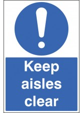 Keep Aisles Clear - Floor Graphic