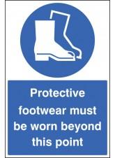 Protective Footwear Must Be Worn - Floor Graphic