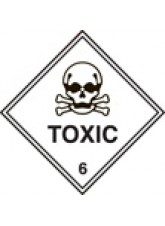 Roll of 100 Toxic 6 Labels - Roll of 100 100mm