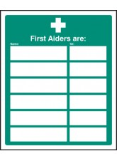 First Aiders Are (Space for 6)