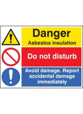 Asbestos Insulation - Do Not Disturb - Report Damage