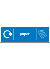 WRAP Recycling Sign - Paper