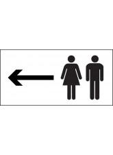 Man and Ladies Symbol with Arrow Left