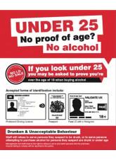 No proof of age No alcohol