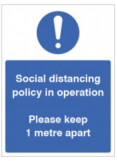 Social Distancing Policy in Operation - 1m / 2m / Generic Distance Options